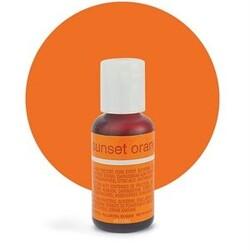 Гелевый краситель Chefmaster Liqua-Gel Sunset Orange (оранжевый) 21 г.