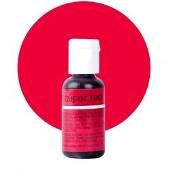 Гелевый краситель Chefmaster Liqua-Gel Super Red (супер красный) 21 г.