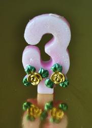 """Свічка цифра """"3"""""""