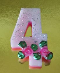"""Свічка цифра """"4"""""""