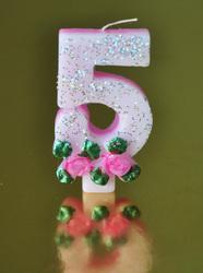 """Свічка цифра """"5"""""""