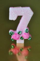 """Свічка цифра """"7"""""""