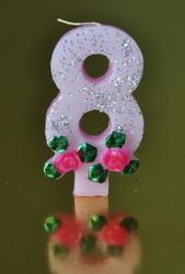 """Свічка цифра """"8"""""""