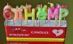 """Свічки святкові """"З днем народження"""""""