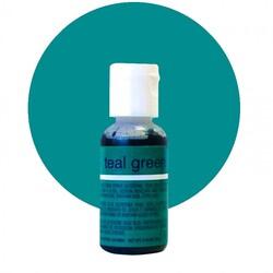 Гелевый краситель Chefmaster Liqua-Gel Teal Green (сине-зеленый) 21 г.