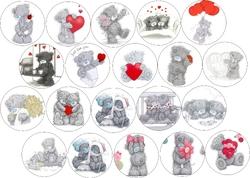 Картинки для маффинов,капкейков Teddy №1