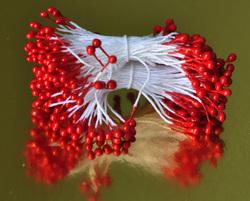 Тичинки для квітів двосторонні на нітці Червоні