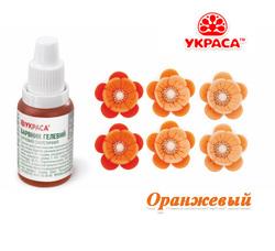 Краситель гелевый ТМ Украса Оранжевый 25 г.
