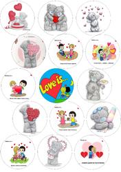 Картинки для мафінів, капкейков З Днем Святого Валентина №173