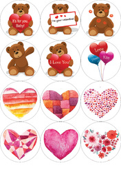 Картинки для мафінів, капкейков З Днем Святого Валентина №171