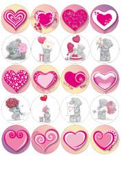 Картинки для мафінів, капкейків З Днем Святого Валентина №168