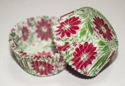 Форма для кексів Весна 50х30 50шт. (Червоно-зелена)