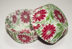 Форма для кексов Весна 50х30 50шт.(красно-зеленая)