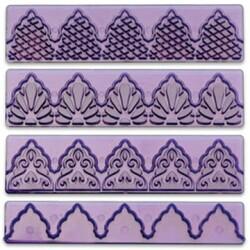 Набор вырубок бордюр из 4 ед. фиолетовый