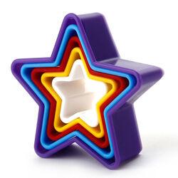 Набор вырубок для печенья Звезда из 5 ед.